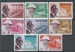 TP DE LA REPUBLIQUE RWANDAISE N� 713 � 720 NON DENTELES NEUFS SANS CHARNIERE