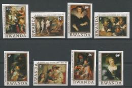 TP DE LA REPUBLIQUE RWANDAISE N� 821 � 828  NON DENTELES NEUFS SANS CHARNIERE
