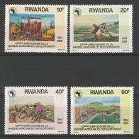 TP DE LA REPUBLIQUE RWANDAISE N° 1364 à 1367  NEUFS SANS CHARNIERE - Rwanda