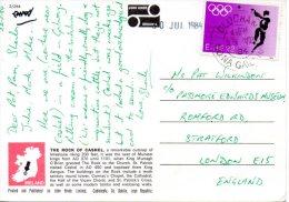 IRLANDE. N°545 De 1984 Sur Carte Postale Ayant Circulé. Médaillé Aux J.O. D'Amsterdam/Athlétisme. .