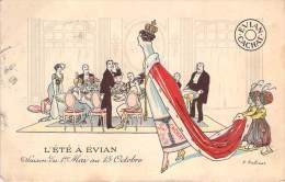 Pub - Source Cachat Evian, L'Eté à Evian, Illustrateur Fabiano - Publicité