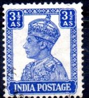 INDIA 1940 King George VI - 31/2a  - Blue  FU - Inde (...-1947)
