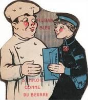 CHROMO A SYSTEME / PUBLICITE RUBAN BLEU/MARGARINE/S´emploi Comme Du Beurre/Beurre Ser Très Chèr Etc...dans Le Télegramme - Vecchi Documenti