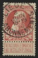 N°74 Obl. LIEGE ABONNEMENTS. TB Obl. Centrale Et Sans Défauts. - 1905 Grosse Barbe
