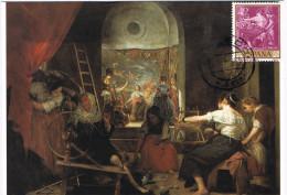 11499. Tarjeta Maxima Toledo 1995. Pintor VELAZQUEZ, Cuadro Las Hilanderas - Tarjetas Máxima