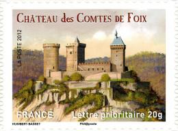 YTA715 FRANCE An.2012 Autoadhésif Château Des Comtes De Foix (Midi-Pyrénées) - Francia