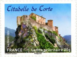 YTA720 FRANCE An.2012 Autoadhésif Citadelle De Corte (Corse) - Francia