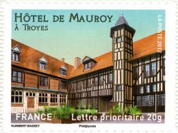 YTA723 FRANCE An.2012 Autoadhésif Hôtel De Mauroy à Troyes (Champagne-Ardenne) - Francia