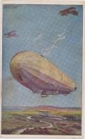 Zeppelin,allemagne ,berlin,aérostat Dirigeable Rigide De Fabrication Allemande,avion,1918 - Dirigeables