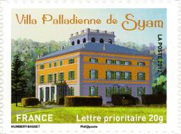 YTA735 FRANCE An.2012 Autoadhésif Villa Palladienne De Syam (Franche-Comté) - Francia