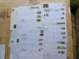 480 ENVELOPPES TIMBRÉES  RÉCENTES - Poststempel (Briefe)