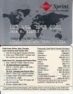 USA - World Traveler Foncard, Sprint Credit Calling Card, Sample