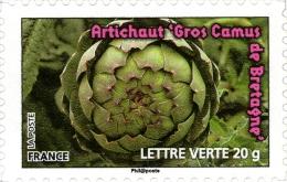 YTA748 FRANCE An.2012 Autoadhésif Légumes Verts :  Artichaut - Francia