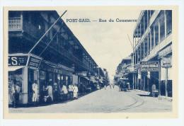 Vintage Egypt Port Said Rue Du Commerce Pc  Unused Shop Detail - Port Said