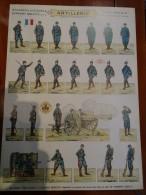 """SOLDATS � d�couper Planche N�2 ARTILLERIE """"PRO PATRIA"""" ED H BOUQUET soldats imprim�s recto verso 28cmx39cm"""