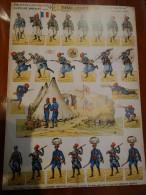 """SOLDATS � d�couper Planche N�18 TIRAILLEURS """"PRO PATRIA"""" ED H BOUQUET soldats imprim�s recto verso 28cmx39cm"""