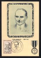 RESISTANCE - PAUL GATEAUD # 1290 / 1961 CACHET GF SUR CARTE MAXIMUM FDC (ref 5428) - Maximumkaarten
