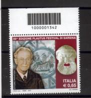 BELLISSIMO FRANCOBOLLO ITALIA REPUBBLICA NUOVO CODICE A BARRE 2010 176 - Códigos De Barras