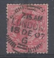 GRANDE-BRETAGNE - N°YT 107 OBLITÉRATION LONDON DU 18.12.1907 - 1902/1910 - COTE: 1.00€ - Used Stamps