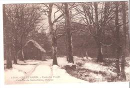 CPA-Vieux Métier-Artisanat-Sabotier-Bretagne-Dans La Forêt-cahute De Sabotiers L´hiver-Coll. E.Harmonic-Saint-Brieuc - Kunsthandwerk