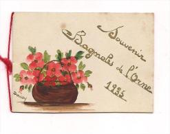 PETIT CARTON PEINT A LA MAIN (Daisy) Souvenir De BAGNOLES DE L'ORNE - 1935 - - Maps