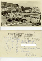Llandudno: Promenade And Grand Hotel. Postcard B/w Cm 9x14 Travelled 1957 (animate, Cars) - Caernarvonshire