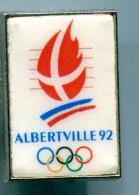 Pin´s  - Jeux Olympiques Albertville 92 - Vintage - Badges