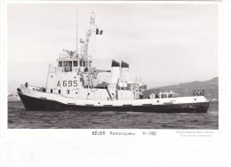 Batiment Militaire Marine Francaise Remorqueur A 695 Belier Marius Bar  9-1980 Babord - Guerre