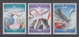 SERIE NEUVE DU LIECHTENSTEIN - JEUX OLYMPIQUES DE LILLEHAMMER N° Y&T 1017 A 1019 - Winter 1994: Lillehammer