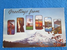 Greetings From Oregon. Crater Lake, Multnomah Falls, State Capitol In Salem, Gladiola Field In Grants Pass, Three Sister - Non Classés