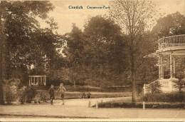 CONTICH / KONTICH - Mooi zicht op het Gemeente park - spelende kinderen / Kiosk - Uitg. Fr. De Herdt - 1930 - TOP