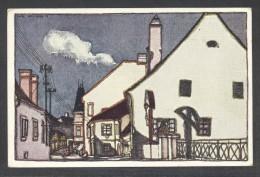 8366-NEUNKIRCHEN-BLICK IN DIE TRIESTERSTRABE-DISEGNATA-1920-FP - Neunkirchen