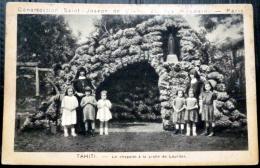 DOM TOM TAHITI   LE CHAPELET A LA GROTTE DE LOURDES ANIMATION - Tahiti
