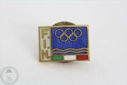 Federazione Italiana Nuoto, FIN/ Italian Swimming Federation - Enamel Pin Badge - Natación
