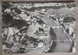 GRENOBLE (38).VUE AERIENNE SUR LES 4 PONTS. ANNEE 1953 - Grenoble