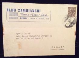 ARMI MUNIZIONI CACCIA PESCA - CARTOLINA PUBBLICITARIA - ALDO ZAMBIANI - RIMINI - Publicité