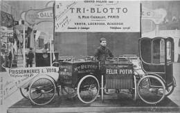 """PARIS - Carte Publicitaire De La Maison """" TRI-BLOTTO """" 5 Rue Charlot  - Exposition Au Grand Palais En 1907 - Arrondissement: 03"""