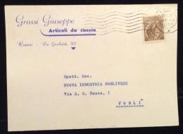 ARMI MUNIZIONI CACCIA PESCA - CARTOLINA PUBBLICITARIA - GROSSI GIUSEPPE - RIMINI - Werbepostkarten
