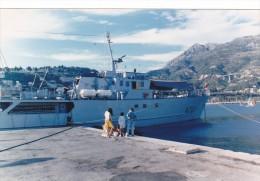 Batiment Militaire Marine Francaise Lot 2 Photos  A 722 Poseidon Amaré Menton 9/1987 - Boats