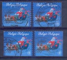 Belgie - 2010  - OBP - 4087  +A+B+C -  Kerstzegels  - Gestempeld  -  Zonder Papierresten - Belgique