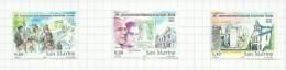 Saint-Marin N°1951 à 1953 Neufs Avec Charnière (sous Faciale) - Saint-Marin