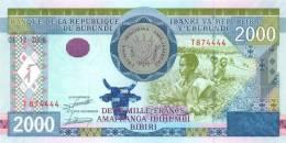 BURUNDI   2.000 FRANCOS  1-12-2008(2009)  PLANCHA/UNC/SC    DL-7122 - Burundi