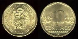 PERU  10 CENTIMOS 2.008 2008 LATON KM#305 SC UNC       DL-7217 - Perú