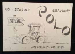 CARTOLINA RADIOAMATORE - GERMANY CBSTATION - BERLIN - POLO - Pubblicitari
