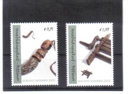 KPÖ219 VEREINTE NATIONEN UNO WIEN 2002 MICHL NR. 361-362  ECKRAND RO POSTFRISCH - Wien - Internationales Zentrum