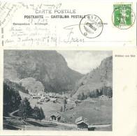 Mühlen - Dorf Von Süden  (Stempel)           1909 - GR Grisons