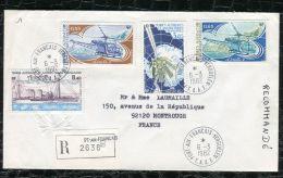 """FRANCE ( TAAF ) : TRES  BEL  AFFRANCHISSEMENT  AVEC  CAD """" PORT-AUX-FRANCAIS-KERGUEL EN """"  DU 6 MARS 1982 , A VOIR . - Terres Australes Et Antarctiques Françaises (TAAF)"""