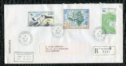 """FRANCE ( TAAF ) : TRES  BEL  AFFRANCHISSEMENT  AVEC  CAD """" PORT-AUX-FRANCAIS-KERGUEL EN """"  DU 19 MARS 1990 , A VOIR . - Terres Australes Et Antarctiques Françaises (TAAF)"""