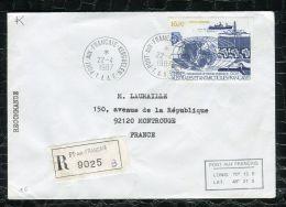 """FRANCE ( TAAF ) : TRES  BEL  AFFRANCHISSEMENT  AVEC  CAD """" PORT-AUX-FRANCAIS-KERGUEL EN """"  DU 22 AVRIL 1987 , A VOIR . - Terres Australes Et Antarctiques Françaises (TAAF)"""