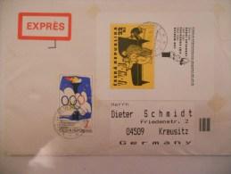 Tchequie Lettre De Benesov 1995 Pour Kreusitz  Avec Bloc - Tchéquie